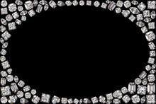 Oval Frame Made Of Diamonds On...