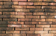 canvas print picture - Brown brick wall background surface for interior decoration Modern design