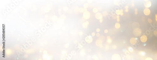 Obraz background of abstract glitter lights. silver and gold. de-focused. banner - fototapety do salonu