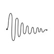 Insane curved black line or tangled path the vector doodle illustration isolated.