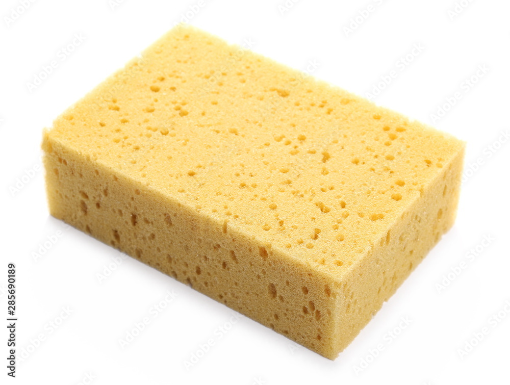 Fototapeta Sponge for cleaning isolated on white background