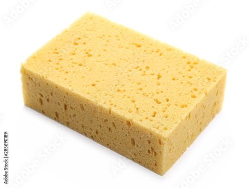 Obraz Sponge for cleaning isolated on white background - fototapety do salonu