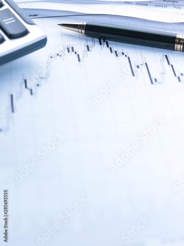 Financial concept. Calculator and pen. - 285693555