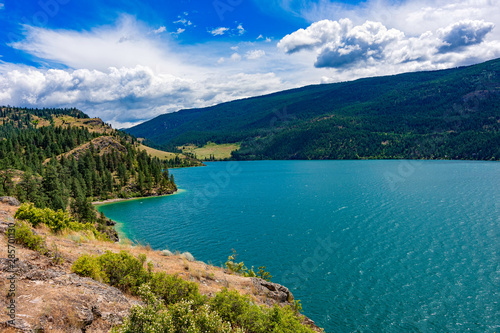 View of Kalamalka Lake from Kalamalka Lake Provincial Park near Vernon British C Canvas-taulu