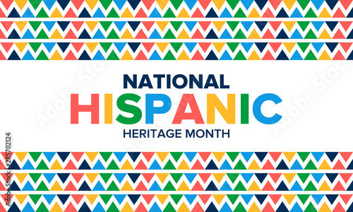 Cuadros en Lienzo National Hispanic Heritage Month in September and October