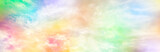 Fototapeta Rainbow - Cloud and sky with a pastel colored background, abstract sky background in sweet color, panoramic image