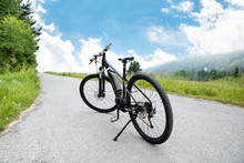 Electric Mountain Bike In Moun...