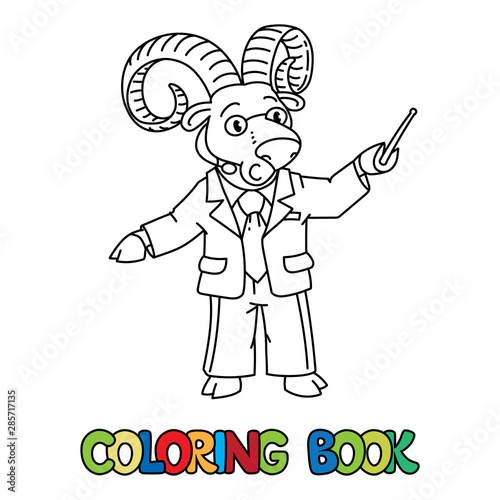 Urial or ram university lecturer ABC coloring book - Buy ...