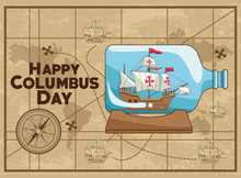 Colombus Columbus Day Card Pos...