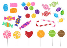 Sweets And Candies Icon Vector...