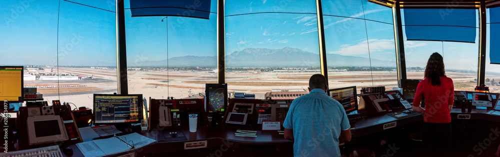 Fototapeta air traffic control tower