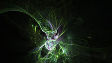 Abstract Transparent Green Cry...