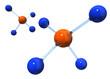 分子構造イメージ, 3dイラストレーション