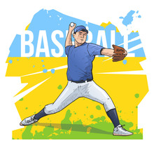 Vector Illustration Of Basebal...