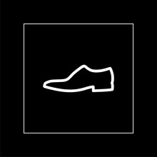 Mens Shoe Outlined Icon In Dar...