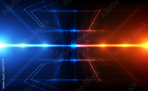 Abstract futuristic digital technology background Fototapet