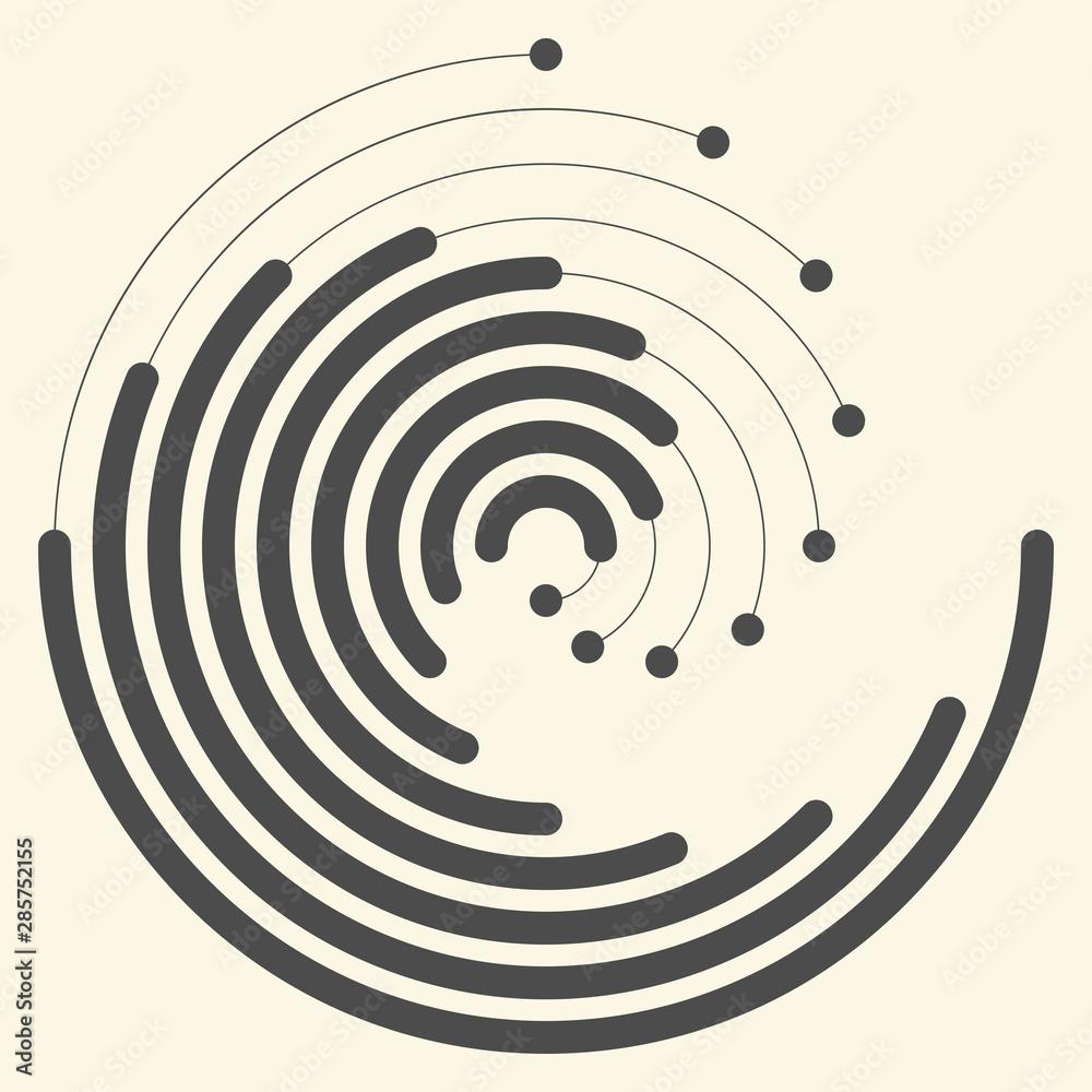 Fototapeta Modern Geometric Background. Vector Creative Logo