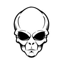 Illustration Of Alien Head Iso...