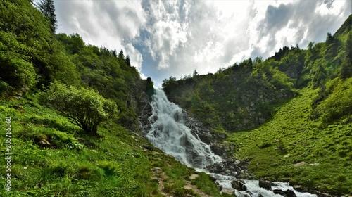 Balea waterfall from Fagaras mountains