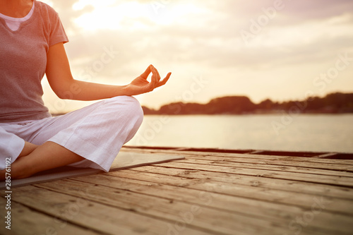 Yoga pose, concept