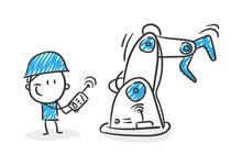 Stickman Blue: Roboter, Automation, Ai. (Nr. 70)