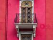 Leinwanddruck Bild - The retro architecture in city Frankfurt, Germany