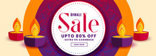 Happy Diwali Sale Banner With ...