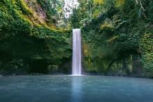 Tibumana Waterfall In Bali Island, Indonesia.