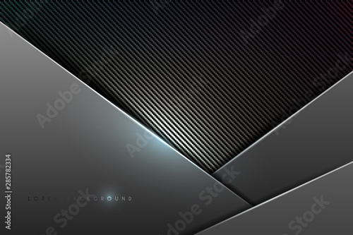 Fototapety, obrazy: Abstract metal and carbon background