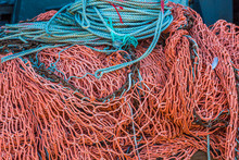 Blue Ropes And Red Nets In A F...