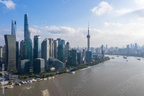 Foto auf Gartenposter Shanghai panoramic city skyline in shanghai china
