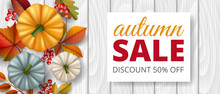 Horizontal Banner With White W...