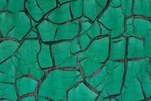Peeling Green Painted Metallic Surface Background