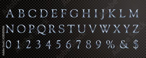 Valokuva  abc blue serif