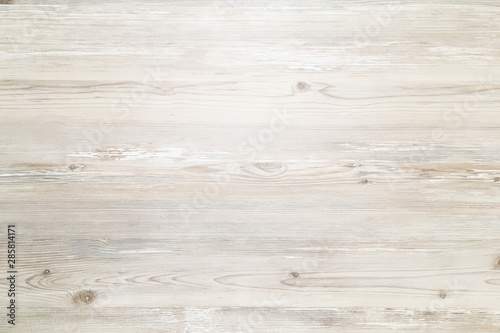 wood washed background, white wooden abstract texture - 285814171