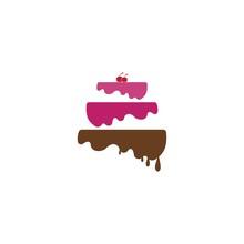 Cake Bakery Logo Design Ilustration