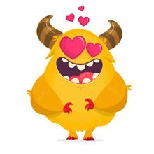 Funny Cartoon Monster. Vector ...