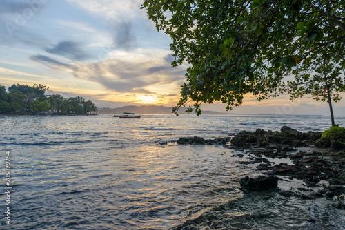 Fototapeta Sunset at Puerto Viejo beach, Costa Rica obraz na płótnie