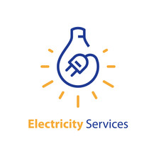 Electricity Repair And Maintenance, Light Bulb And Plug