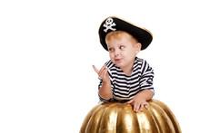 Happy Child On Halloween. Funn...