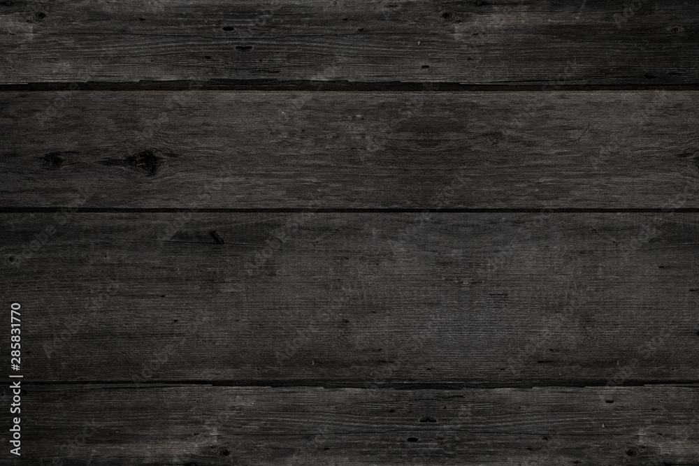 Fototapeta Dark wood texture for background. Wooden boards texture.