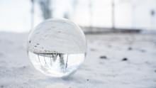 Crystal Ball With Winter Lands...