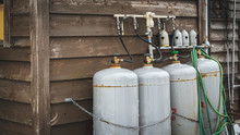 Outside House With Gas Tank