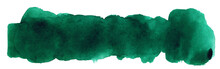 Deep Green Abstract Strip Of W...