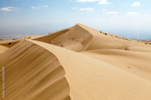 Cerro Blanco sand dune near Nasca or Nazca town in Peru Fototapet