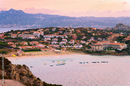 Landscape and scenery Baja Sardinia luxury resort Costa Smeralda Wallpaper Mural