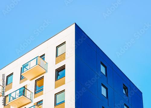 Fototapeta  Facade of modern house apartment copy space