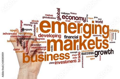 Fotografia Emerging markets word cloud