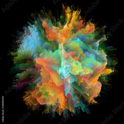Fototapety, obrazy: Advance of Color Splash Explosion
