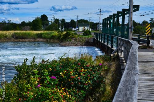 Fotomural Tidal Hydroelectric Dam and Bridge near Parrsboro Nova Scotia